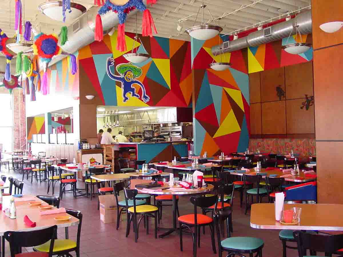Mexican decorations for restaurants - Although Short Lived This 3 500 Sf Restaurant Was A Vibrantly Designed Interior Space Featuring Murals Colorful Mexican Pi Atas And Decorations
